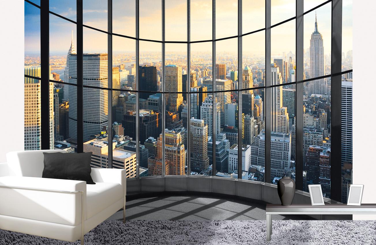 les diff rents types de papier peint new york. Black Bedroom Furniture Sets. Home Design Ideas