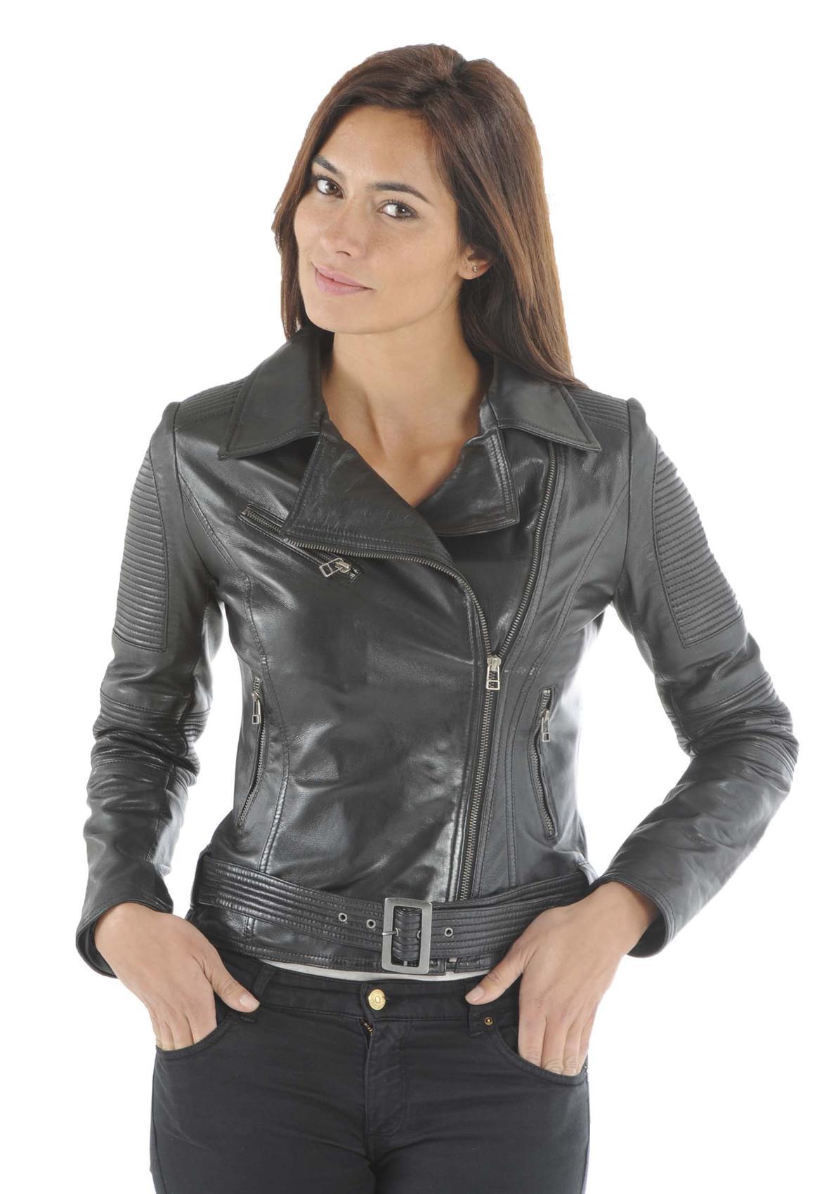 veste en cuir femme tous les blousons adopter en cette saison. Black Bedroom Furniture Sets. Home Design Ideas
